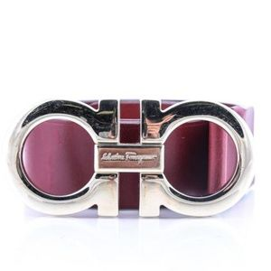 Salvatore Ferragamo Red Buckle Belt